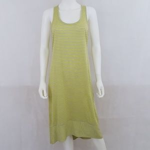 Eileen Fisher Linen Yellow Stripped Tank Dress